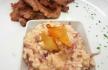 zambeze Plumas de porco preto com risotto de cebolas