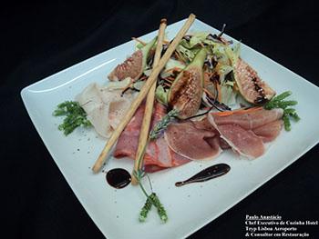 Receita Florette Salada 4 Estações com Carnes frias e Figos frescos 350