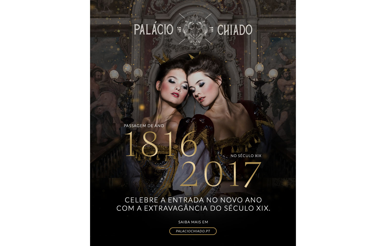 Palácio Chiado com festa de ano novo do sec.XIX