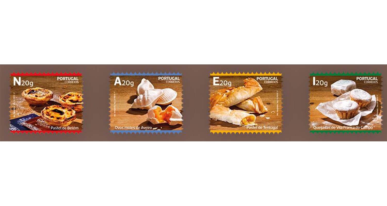 Emissão filatélica dos CTT com doces tradicionais portugueses