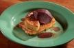 Foie gras com rabanada e pêra