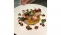 site Galette de batata,bacalhau sob pavé corvina grelhada, molho pequillos, alcaparrões e azeitonas verdes