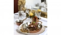 site Lombo de boi, molho de pimenta com macarrão gratinado ou batatas dauphine