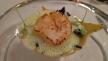 Passion Cousine Vieira corada com raviolis de carabineiro, manteiga de morri