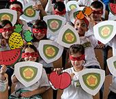 """""""Heróis da Fruta – Lanche Escolar Saudável"""""""