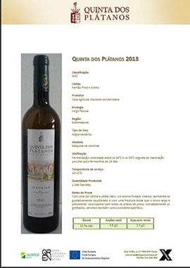 Qta Platanos branco 2013 270