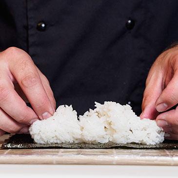 Workshop de sushi para crianças