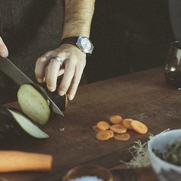 Churchill's e Vitor Sobral em curso de cozinha