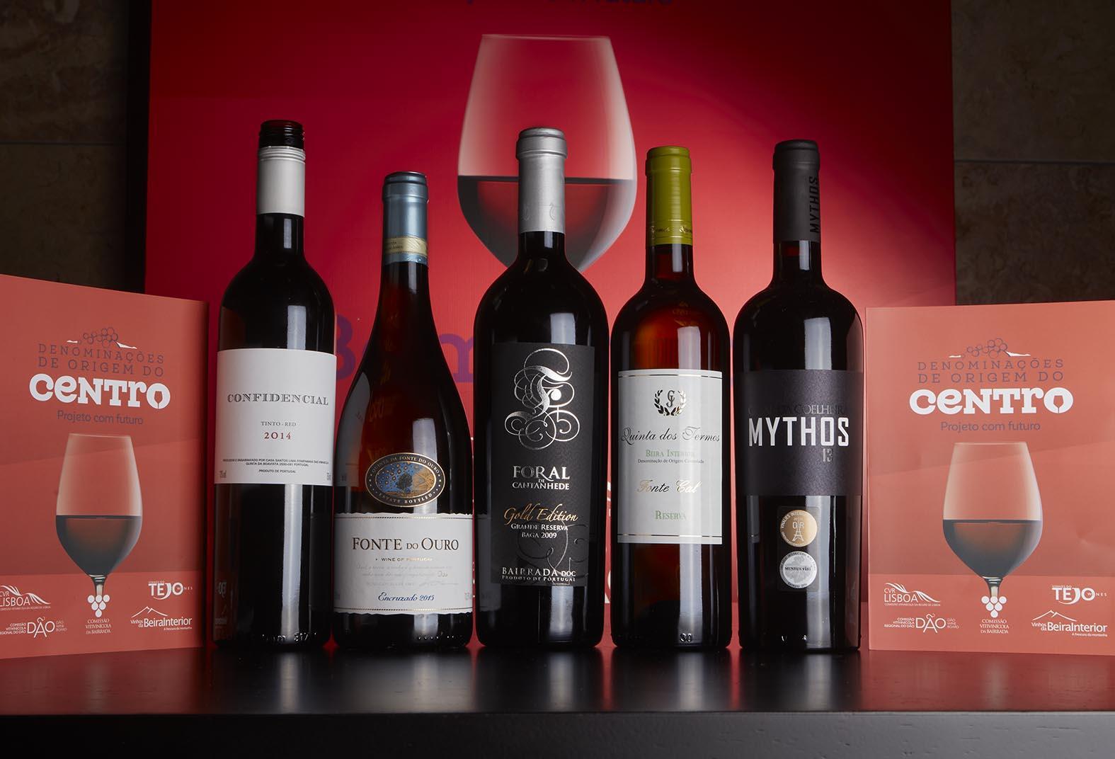 Cinco vinhos, cinco regiões, um território