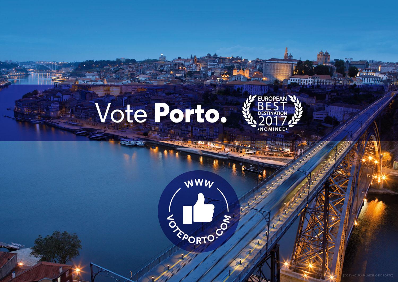 """Campanha """"Porto – Melhor Destino Europeu 2017"""""""