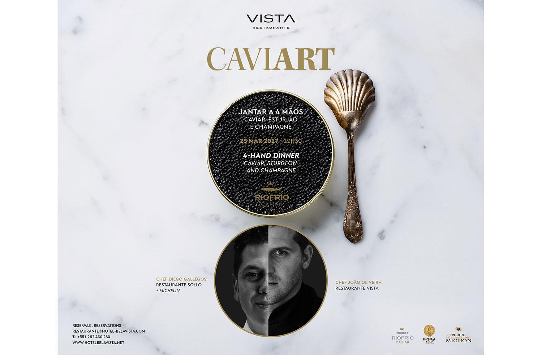 Vista Restaurante desperta os sentidos com CaviART