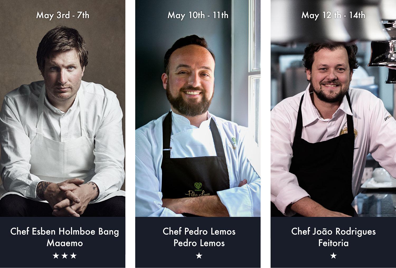 João Rodrigues é o último chef a integrar a edição de maio do Presidential