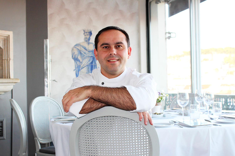 Chef Gonçalo Costa no restaurante Tágide