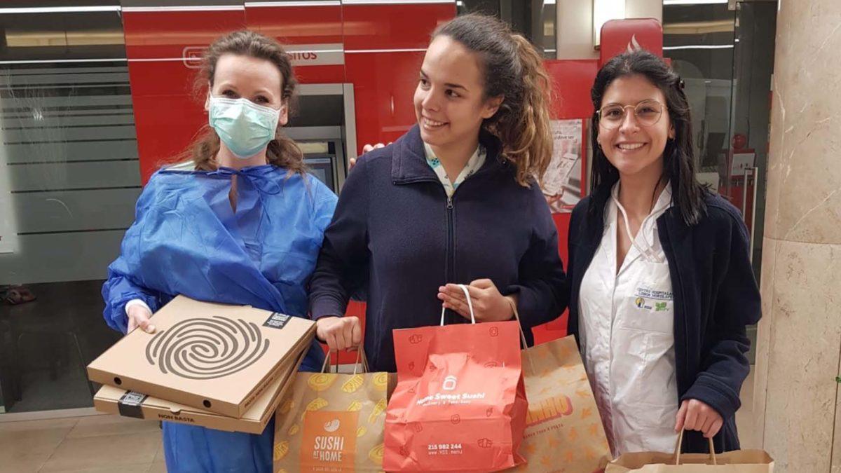 Plataforma distribui refeições pelos hospitais